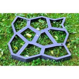 Форма за градинска пътека - базалтов камък, 600x600x60 мм