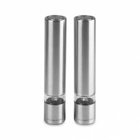 """Комплект електрически мелнички за сол и пиперза сол и пипер """"CHISWICK MINI"""" - 17,5см - Cole & Mason"""