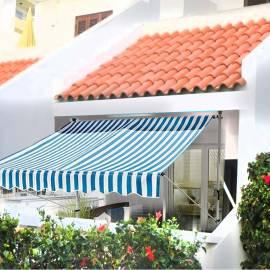 Тента - сенник 250х130 см, синьо бели райета