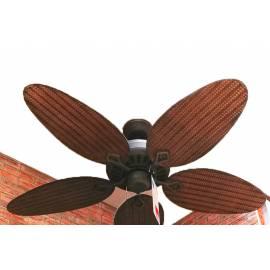 Таванен вентилатор, 132 см - цвят дърво