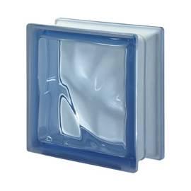 Blue - DO transparent -стъклени тухли -19 x 19 x 8 (см)