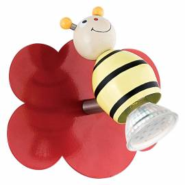 Imagén: СПОТ LED 1хGU10 3W червено с пчелички TAYA 1