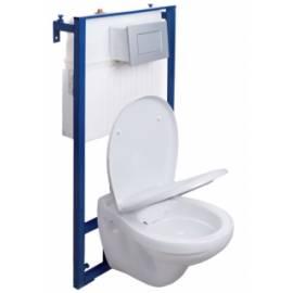 Комплект West Premium Set 4 в 1 - структура за вграждане, бутон, стенна тоалетна без ръб