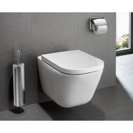 Стенна тоалетна без ръб The Gap Clean Rim, комплект със седалка