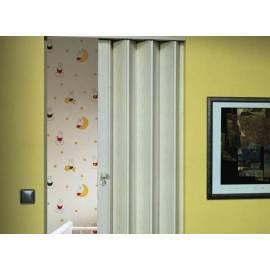 Сгъваема врата тип хармоника 83 x 205 см, бял ясен