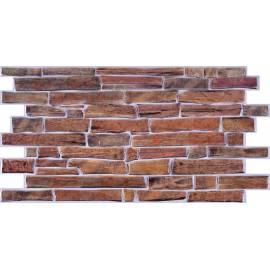 PVC пано кафяв камък  -  97,7х49,6 см