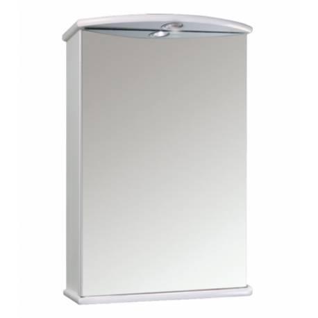 Шкаф за баня с огледало Salsa Orion, бял, 60 см
