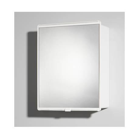 Шкаф за баня с огледало Jokey Junior, пластмаса, бял