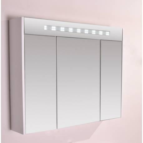 Шкаф за баня с огледало Inter Ceramic, с LED осветление, PVC