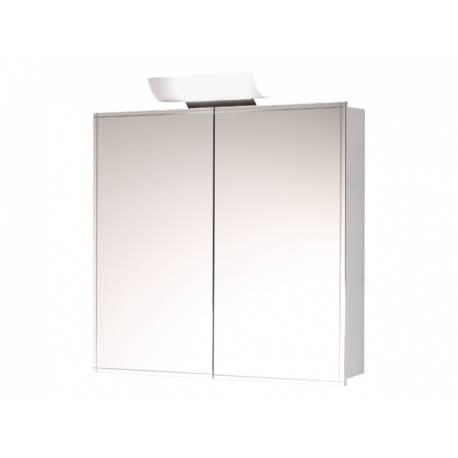 Шкаф за баня с огледало Salsa Orion, бял, с две врати, 70 см