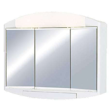 Шкаф за баня - огледало с осветление Jokey Elda, PVC