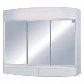 Шкаф за баня - огледало с осветление Eco, PVC