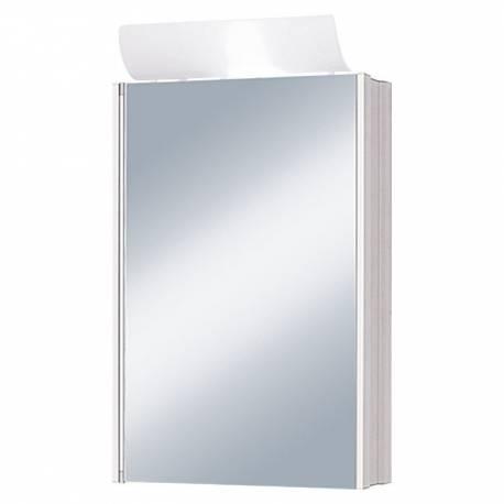 Шкаф за баня - огледало с осветление Jokey Single Alu, алуминиев