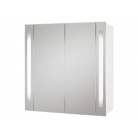 Шкаф за баня с огледало Riva Hydra - бял, 80 см