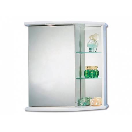 Шкаф за баня с огледало Riva Forever - бял - 66х58 см