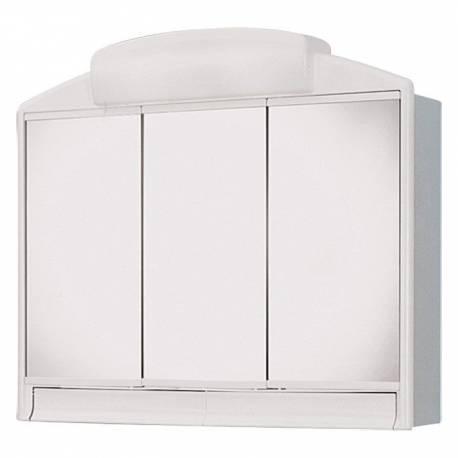 Шкаф за баня - огледало с осветление Jokey Rano, PVC