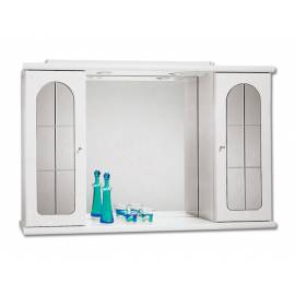 Шкаф за баня с огледало Riva Reflex, бял, 66х102 см