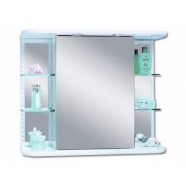 Шкаф за баня с огледало Dekor - бял - 66х78 см