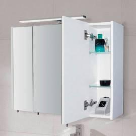 Шкаф за баня с огледало с LED осветление Riva Vulcano, 80 см