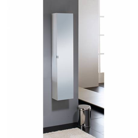 Шкаф за баня с огледало Salsa Orion - бял
