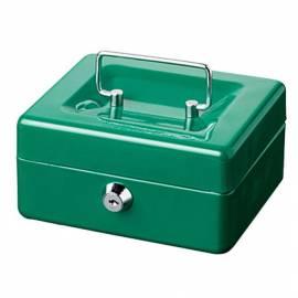 Парична кутия/ каса с монетник Money 5015, зелена, 15х12х8 см