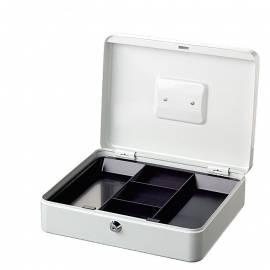 Парична кутия/ каса с монетник Money 5030, бяла, 30х24х9 см
