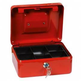 Парична кутия/ каса с монетник, червена, 16х20 см