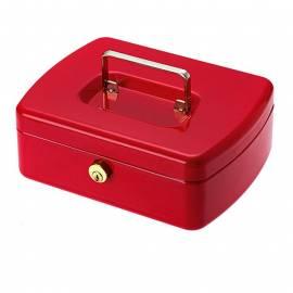 Парична кутия/ каса с монетник Office Line, червена, 20,2x15,7x7,5 см