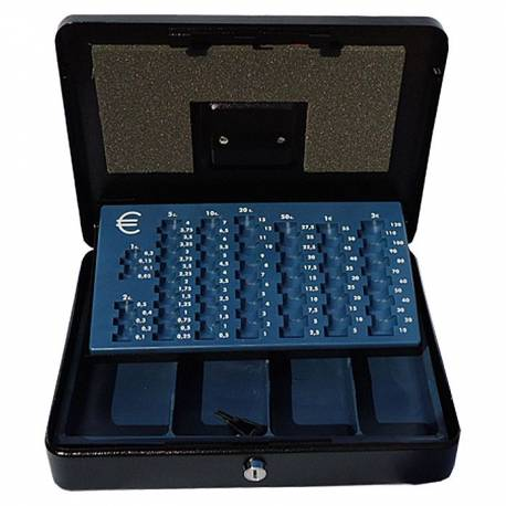 Парична кутия/ каса с монетник, черна, 28х37x10 см