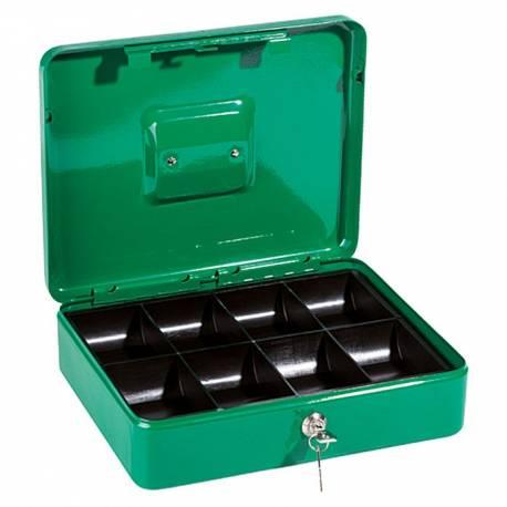 Парична кутия/ каса с монетник, зелена, 24х30x9 см
