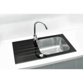 Imagén: Кухненска мивка за вграждане Alveus Vitro 20 - Стъклена, 78x43,5 см