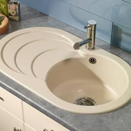 Кухненска мивка за вграждане Cascade 1,0, 79x48 см, кварц, кашмир