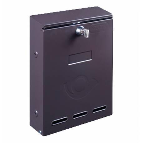 Пощенска кутия за порта или входна врата, без отвор, кафява