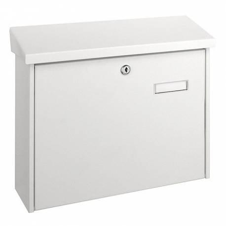 Пощенска кутия PM 55, поцинкована, бяла