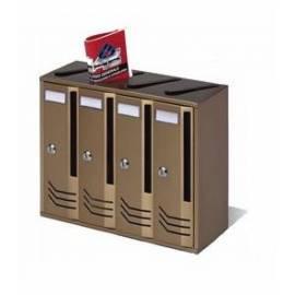 Пощенска кутия/ блок Intesa Compo-4, бронз