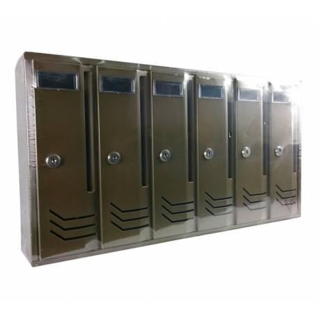 Пощенска кутия/ блок Intesa Compo-6, бронз