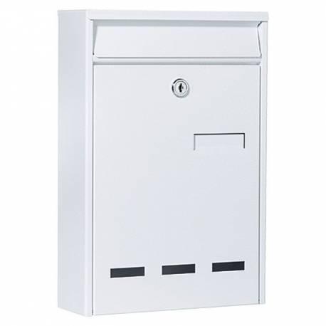 Пощенска кутия PM 11, поцинкована, бяла