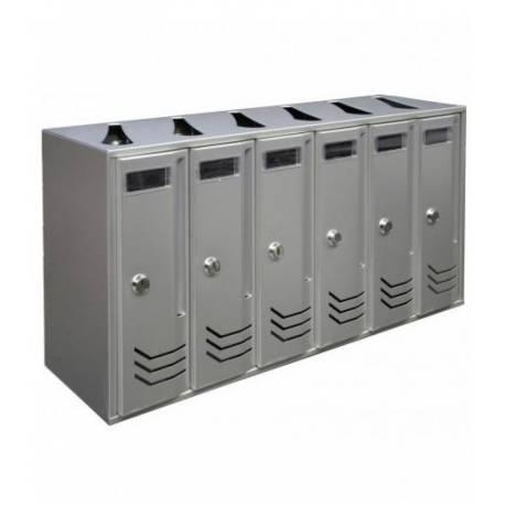 Пощенска кутия/ блок Intesa Compo-6, сребрист