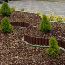 Декоративна ограда, кафява - 180x3400 мм