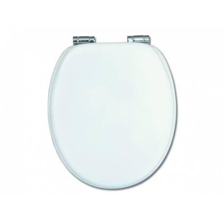 Капак за тоалетна чиния - Sari, MDF, бяла, забавено падане