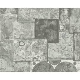 Флис тапет Карта на света
