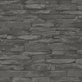 Флис тапет, черен камък
