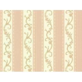 Флис тапет 6496-45, бежов, цветя
