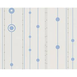 Флис тапет, син кръг