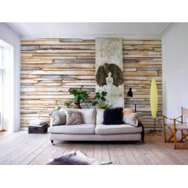 Imagén: Фототапет Whitewashed wood, 8 части, 368х254 см
