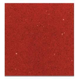 Огледален кварцов камък, червен, 30x30x0,8 см