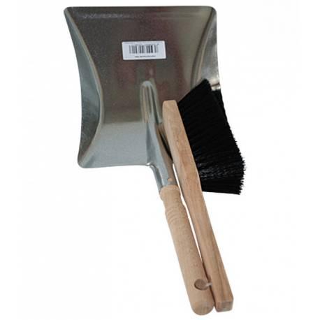 Комплект лопатка с дървена дръжка и четка