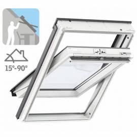 Imagén: Покривен прозорец Стандарт Плюс - горно управление, бял полиуретан - 9 размера