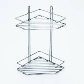 Imagén: Метален ъглов рафт, петоъгълен, 2 нива