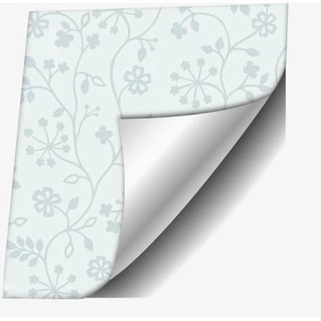 Самозалепващо фолио, бели цветя, 45х150 см